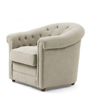 Grantham Armchair, Linen, Flax
