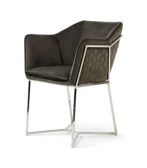 Reynolds Armchair, Velvet, Sl Grey