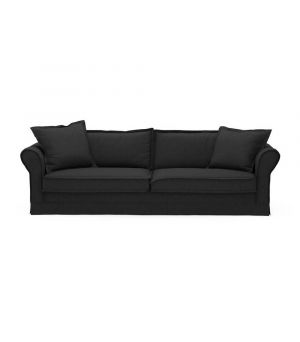 Sedačka Carlton 3,5s, Oxford Weave, Basic Black