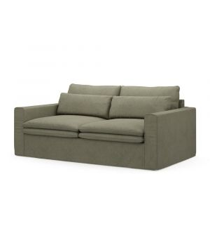 Continental Sofa 2,5s, Oxford Weave, FrGreen
