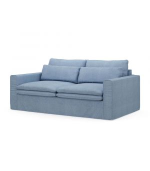 Continental Sofa 2,5s, Washed Cotton, Ice Blue