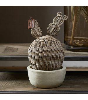 Socha Rustic Rattan Prickly Pear Cactus