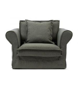Carlton Love Seat, Oxford Weave, Green