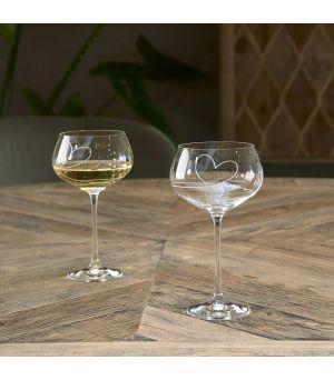 Sklenice na bílé víno With Love