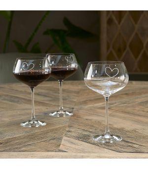 Sklenice na červené víno With love