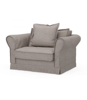 Carlton Love Seat, Washed Cotton, Stone