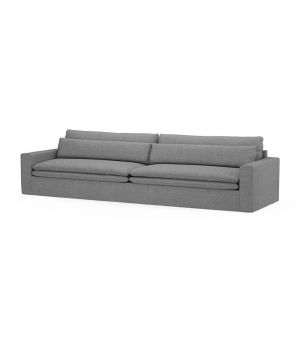 Continental Sofa XL, Washed Cotton, Grey