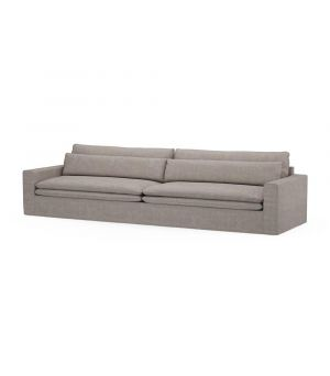 Continental Sofa XL, Washed Cotton, Stone