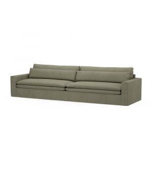 Continental Sofa XL, Oxford Weave, FrGreen