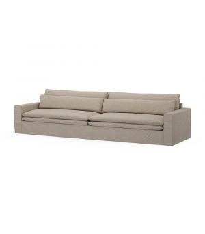 Continental Sofa XL, Oxford Weave, AnvFlax