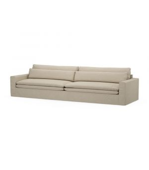Continental Sofa XL, Oxford Weave, FlFlax