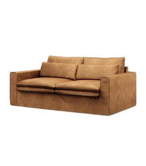 Continental Sofa 2,5s, Velvet, Cognac