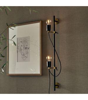 Nástěnné svítidlo Hoxton 2, černé