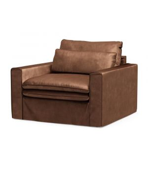 Continental Love Seat, Velvet, Chocolate