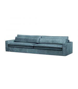 Continental Sofa XL, Velvet, Petrol