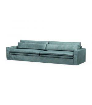 Continental Sofa XL, Velvet, MinBlue