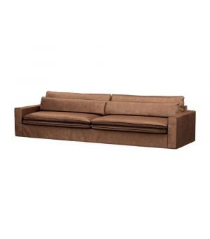 Continental Sofa XL, Velvet, Chocolate