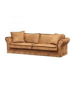 Carlton Sofa 3,5s, Velvet, Cognac