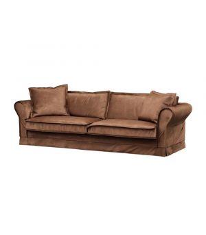 Carlton Sofa 3,5s, Velvet, Chocolate