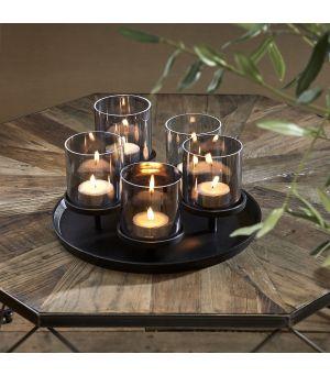 Svícen Porto Candles black
