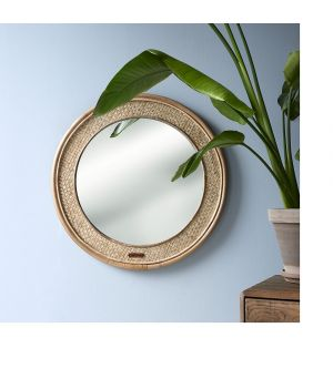Zrcadlo Natural Weave rnd ∅68cm