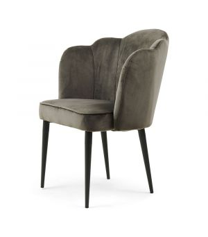 Lauderdale Arm Chair Velvet, Sl Grey