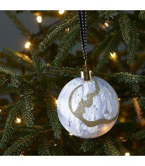 Vánoční koule Pretty Marble grey Dia 8