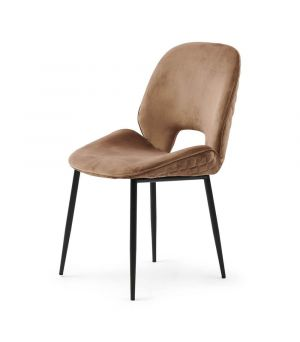 Jídelní židle Mr. Beekman, Velvet, GlMink