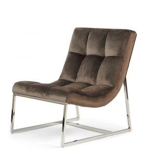 Thompson Place Chair, Velvet, Anthracit