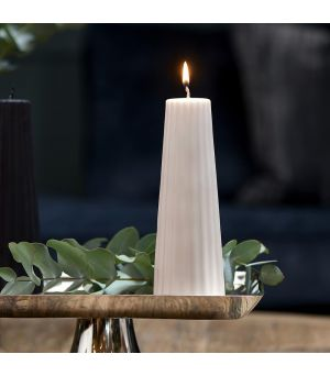 Svíčka Cone Ridged Candle rose 7x20