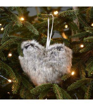 Vánočná ozdoba Fabulous Faux Fur Heart
