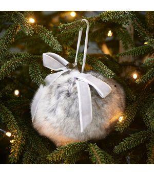 Vánoční ozdoba Fabulous Faux Fur 10cm
