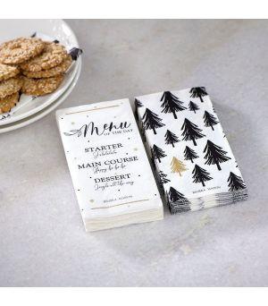 Papírové ubrousky Christmas Menu