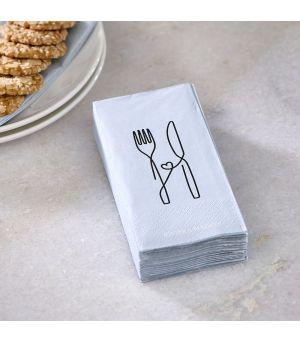 Papírové ubrousky Stylish Cutlery
