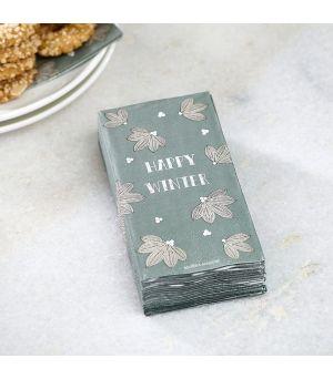 Papírové ubrousky Happy Winter