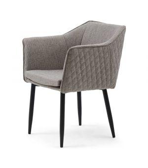 Židle Megan Armchair, Mélane Weave, Fog