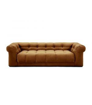 Sedačka Cobble Hill 3.5 Seater, Velvet, Cognac