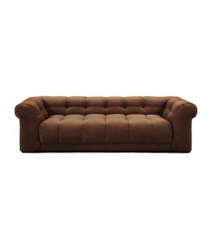 Sedačka Cobble Hill 3.5 Seater, Velvet, Chocolate