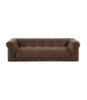 Cobble Hill Sofa 3.5 Seater, Velvet, Taupe