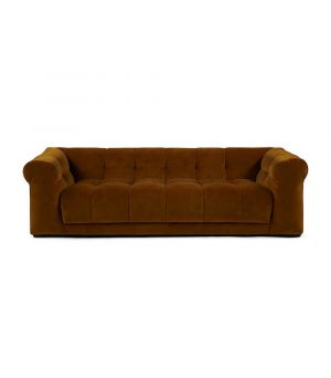 Cobble Hill Sofa 3.5 Seater, Velvet, Brown