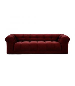 Cobble Hill Sofa 3.5 Seater, Velvet, Burgundy