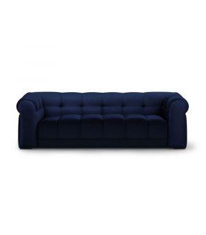 Sedačka Cobble Hill 3.5 Seater, Velvet, Midnight Blue