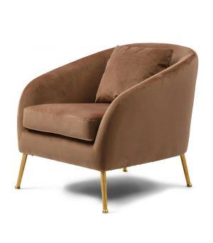 Křeslo Montmartre Armchair Gold Leg, Velvet, Gold Mink