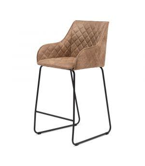 Nízká barová židle Frisco Drive, Pellini, camel