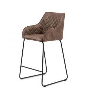Nízká barová židle Frisco Drive, Pellini, coffee