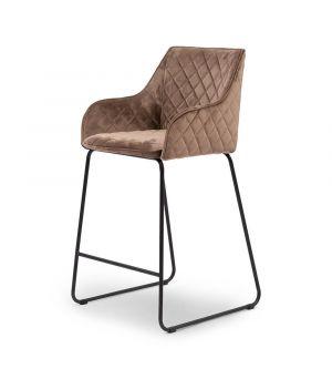 Nízká barová židle Frisco Drive, velvet III, golden mink