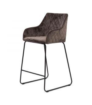 Nízká barová židle Frisco Drive, velvet III, anthracite