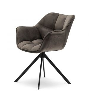 Jídelní židle Carnaby, velvet III, anthracite