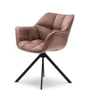 Jídelní židle Carnaby, velvet III, rose stain