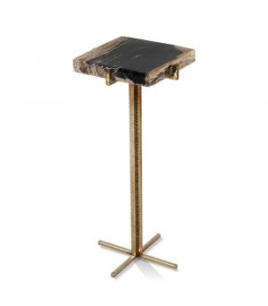 DRINK TABLE 'MANAMA' PETRIFIED WOOD 23x23x53h